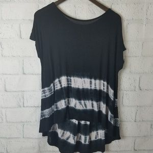 Forever 21 | Black & White Tie Dye Semi Sheer Top